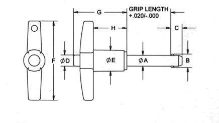 Monroe Hardware LBT-SS7121 5//16X2.00 17-4 T-HNDL RAPID RELEASE PIN