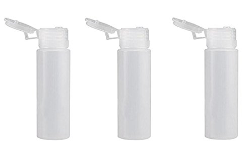 6PCS 30ML/50ML Refillable Portable Empty Plastic Squeeze Bottle Flip Lid Jars Makeup Travel Packaging Vial Container for Essential Oil Toner Lotion Shower Shampoo Gel Toothpaste (30 ML)