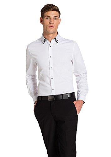 Formal Business Shirt Sleeve Yd Slim Whistler 3xs Dress Dress Slim A Cotone Di Cotton 3xs 2xl Km 2xl Bianco Long Casuali Sottile Di Vestito Casual Dimensioni Camicia Di Fit Affari Convenzionale Vestito Slim White Fondono Fit Blend Si Men's Forma Maschile Di Fit Lunghe In Whistler Maniche Size 6YO6r