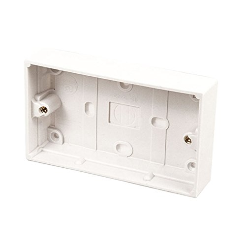 Kenable Surface Mount Back Box Pattress Box 2 Gang 25mm - Mount Back Box