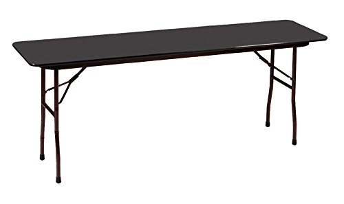 18 X 72 Folding Table.Correll 18 X72 Commercial Duty Folding Table Black Granite High Pressue Laminate Top 3 4 Core Cf1872px 07