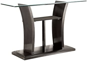Furniture of America Corrie Glass Sofa Table, Gray