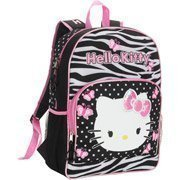 Image Unavailable. Image not available for. Color  Hello Kitty Black  Butterfly Zebra Print 16 quot  Backpack c80041beb2525