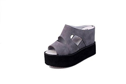 Premium Western Rhinestone Sun Floral Concho Blingbling Flip Flops Wedge Sandals Women's Comfortable Wedge Flip-Flop(Grey 40/9.5 B(M) US Women)