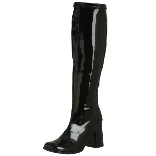 Funtasma by Pleaser Women's Gogo-300W,Black Patent,8 M (Black Women Stretch Boot)