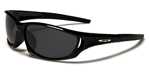X-loop Designer Sunglasses (Polarized X-Loop Sport Fishing Golf Driving Outdoor Sports Sunglasses - Black)
