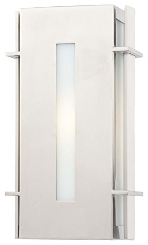 Minka Lavery Outdoor Wall Light 72121-144-PL Colva Exterior Pocket Sconce Lantern, 13w Fluorescent, Steel