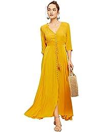 Light Yellow Long Flowy Dresses