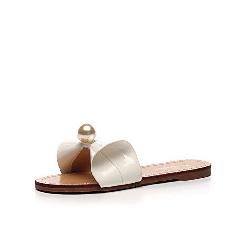 El arco de la manera del verano afuera las zapatillas del desgaste/Pantuflas de fondo plano B