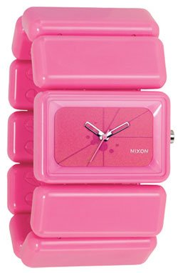 Nixon Women's 'Vega' Quartz Stainless Steel and Polyurethane Casual Watch, Color:Pink (Model: A726-226-00)