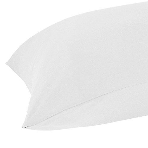 Homescapes Taie d'oreiller rectangulaire 50 x 90 cm Coton égyptien 200 fils Coloris Blanc