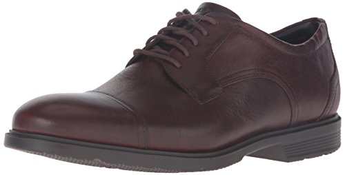 Rockport Mens Cs Cap Toe Oxford In Pelle Marrone Scuro