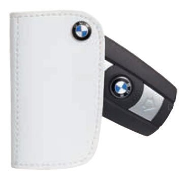 BMW Leather Key Cases White