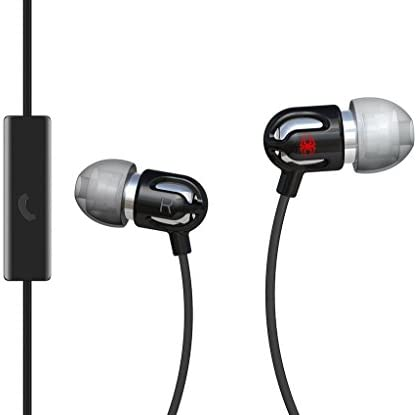 Spider E-EMic,-BK02 TinyEar Earbuds with Mic, Black
