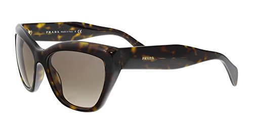 Prada Designer Womens Sunglasses - PR02QS - No Wayfarer Frame with No Lens - Free Shipping, Free Returns, 12 Month Warranty - Size: 56--17--140 - Color: Havana Light - Free Shipping Sunglasses