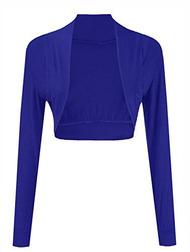 Bolero Para mujer y niñas, de manga larga azul real