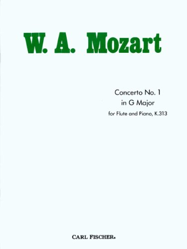 Concerto No.1 in G Major for Flute and Piano, K.313