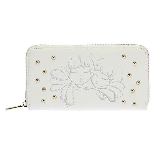 Thun ® - Grand portefeuille en similicuir avec une fermeture éclair Ange Or 19,5 x 3 10 h
