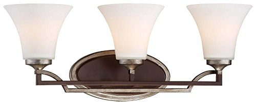 Minka Lavery Wall Light Fixtures 5343-593 Astrapia Bath Vanity Lighting, 3 Light, Dark Rubbed (Sienna Three Light Bath)