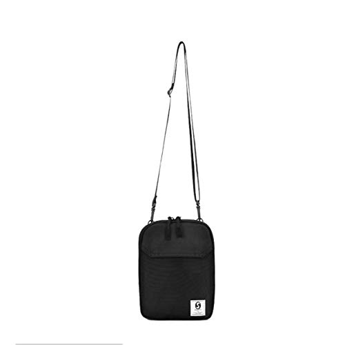 Andannby Canvas Chest Packs for Men Women Small Bags Casual Crossbody Hot-Summer Shoulder Sling Pack Mini Knapsack (Black, Small) ()