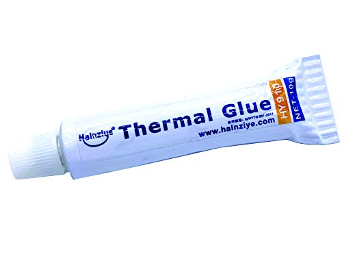 (Halnziye 10Gram Thermal Conductive Glue Silicone Plaster Viscous Adhesive Cooling Compound for LED GPU Chipset Heatsink)