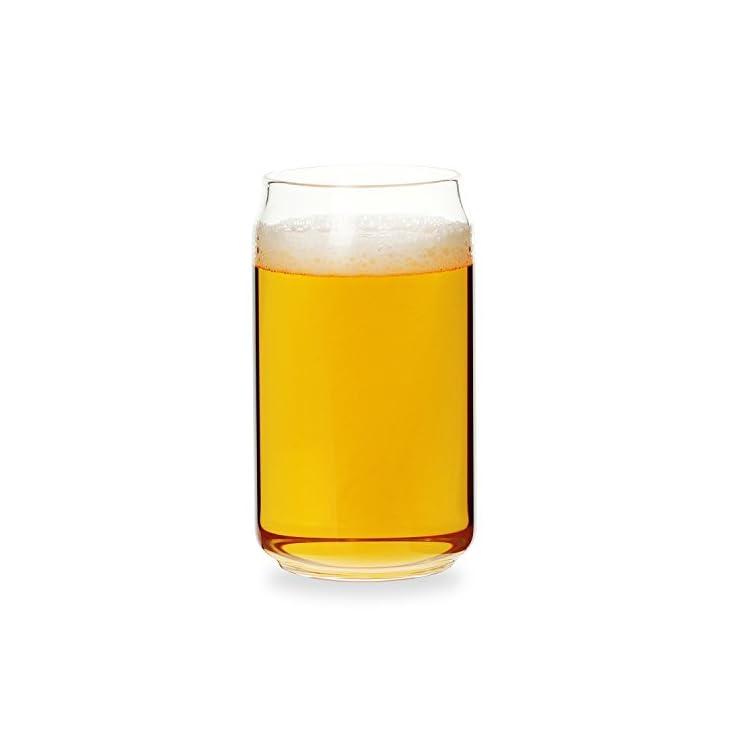 Can Shaped Beer Glass – 20 oz – 4 PACK, Beer glasses set of 4 /Beer drinking glasses/tumbler for bock beer
