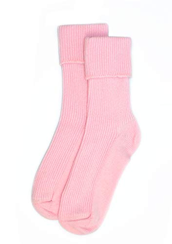 Ladies Cashmere Sock in Pink Made In Scotland