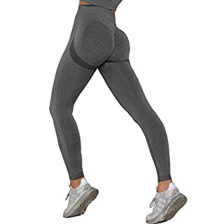MANIFIQUE High Waisted Seamless Leggings for Women Tummy Control Workout Gym Butt Lifting Tights Mesh Yoga Pants