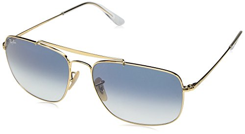 Ray-Ban Men's Steel Man Sungkass Square Sunglasses, Gold, 60 - Ban Glasses Amazon Ray