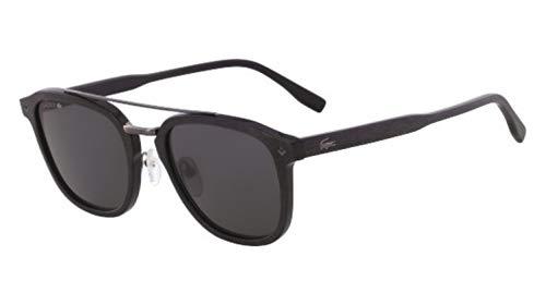 Lacoste Men's L885s L885S-001 Square Sunglasses, BLACK, 52 mm (Sunglasses Lacoste Black)