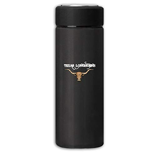 Texas Longhorns Design Art for Texas Business Scrub Thermos Cup Stainless Steel Vacuum Thermos Flask Keeps 18 Hours Hot 13 Oz - Steel Longhorns Stainless Thermos Texas