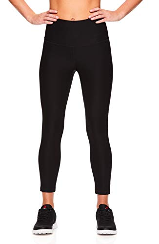 Reebok Running Tights - Reebok Women's Capri Leggings with High-Rise Waist Performance Compression Tights