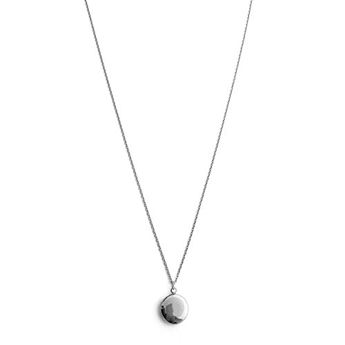 HONEYCAT Keepsake Locket Necklace in Silver (Rhodium Plate) | Minimalist, Delicate Jewelry (S) ()