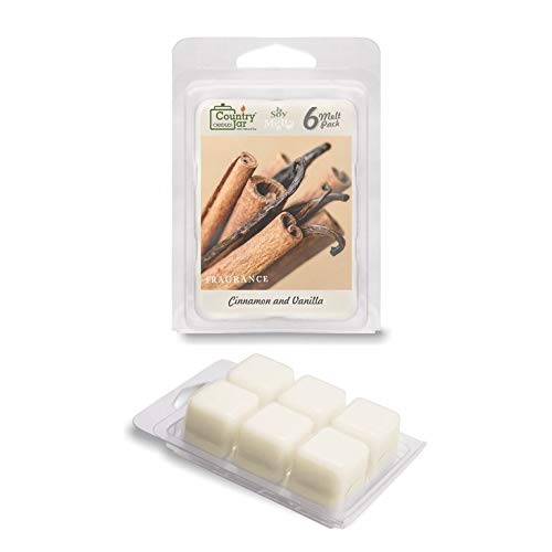 Country Jar Cinnamon and Vanilla Soy Wax Melts/Tarts (2.75 oz. 6-Cube Pack) Spring Pick-3 Sale! See Details.