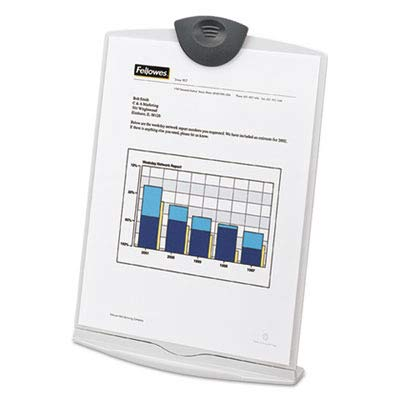 Fellowes : Freestanding Desktop Copy Stand/Clipboard, Plastic, 75-Sheet Capacity, Platinum -:- Sold as 2 Packs of - 1 - / - Total of 2 Each