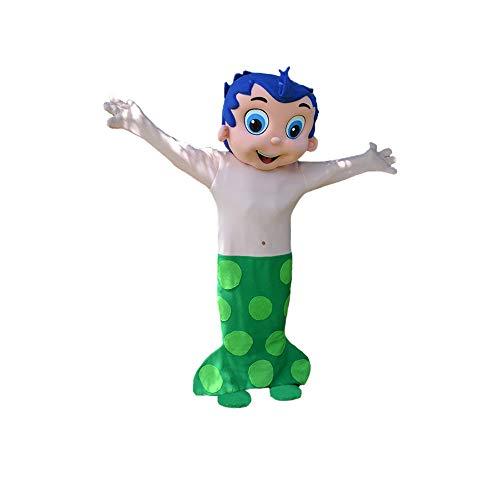 Gil Blue Boy Bubble Guppies Mermaid Mascot Costume