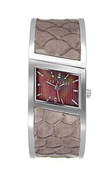 Ted Baker Women's TE4003 Twist-Ted Slant 3-Hand Analog Brown Bangle Watch