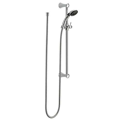 Delta Faucet 2-Spray Slide Bar Hand Held Shower with Hose, Chrome 57011