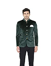 Wintage Men's Velvet Grandad Nehru Blazer Coat Jacket