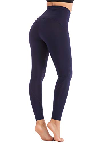 Cal Reborn Women's High-Waist Skinny Yoga Pants Tummy Control Running Workout Non See-Through Leggings with Hidden Pockets
