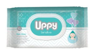 UPPY Sensitive Baby Wipes – Ideal for Diaper Bag and Traveling. Made With Purified Water