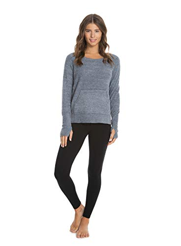 Barefoot DreamsCozyChic Lite Raglan Crew,Long Sleeve T-Shirt, Crew NeckTop, Fall and Winter Outerwear ()