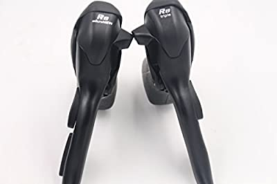 MicroNEW Dual Control Levers SB-R483 3 x 8 Speed Trip Shifters Road Bicycle Derailleur Compatible for Shimano