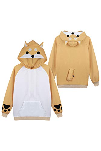 144a1b500 coser park Cute Shiba Inu Dog Hoodie Coral Celvet Long Sleeve Home Wear  Clothes Sweatshirt with
