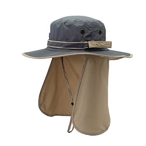 ayamaya Sun Cap Fishing Hats with Neck Flap, Wide Brim UV Protection Breathable Lightweight UPF50+ Boonie Hats Outdoor Sun Visor Cap Mens/Womens Quick Drying Bucket Hat for Travelling Camping