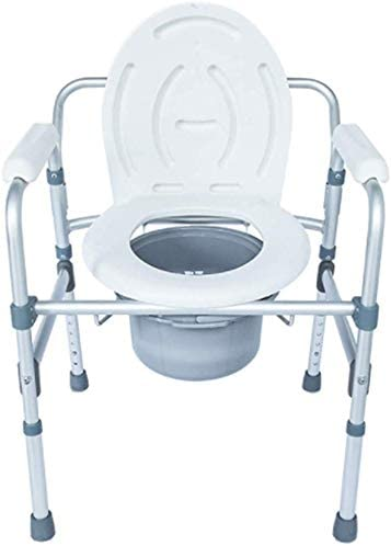 GBX Beweglich Faltbare Durablefolding Potty Wc Stuhl, Medical Höhenverstellbarer Dusch Kopfendecommode Stuhl | Ergonomische Rückenlehne | Für Senioren, Behinderte, Und Deaktivierte Benutzer, Wc
