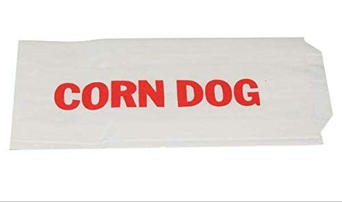 Tabletop king 3 x 3//4 x 7 Printed Paper Corn Dog Wrapper 1000//Case