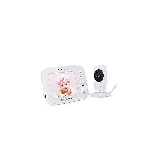 Baby Monitor, Video Baby Monitor Wireless Night Vision Dual View Video,  Newborn Baby Monitor with Zoomable Night Vision Digital Color Camera, Two-Way Audio, Lullabies (3.2 inch)
