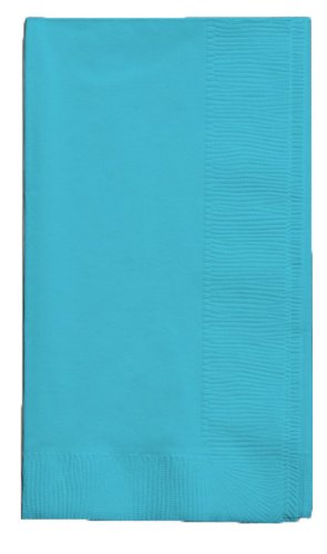Creative Converting Touch of Color 2-Ply 50 Count Paper Dinner Napkins, Bermuda Blue