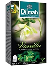 شاي بنكهة الفانيليا من دلما - 20 كيس
